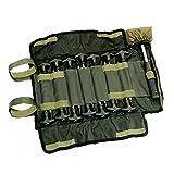 Lucx® Heringe-Set 14-TLG. inkl. Gummihammer und Tasch für Bivvy/Erdnägel / Zeltnägel für Angelzelte/T - Pegs für Karpfenzelte