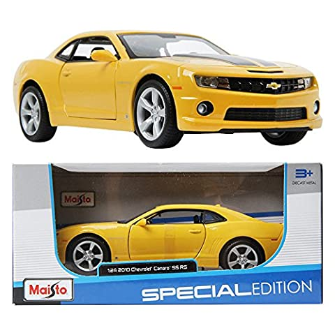 Maisto 1:24 2010 Chevrolet Camaro SS RS Yellow Special Edition