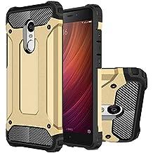 Hongmi Note4 Funda, HICASER Híbrida Case [Heavy Duty] Rugged Armor Cover, Dual Layer Shock Resistant Carcasa para Xiaomi Redmi Note 4 Dorado