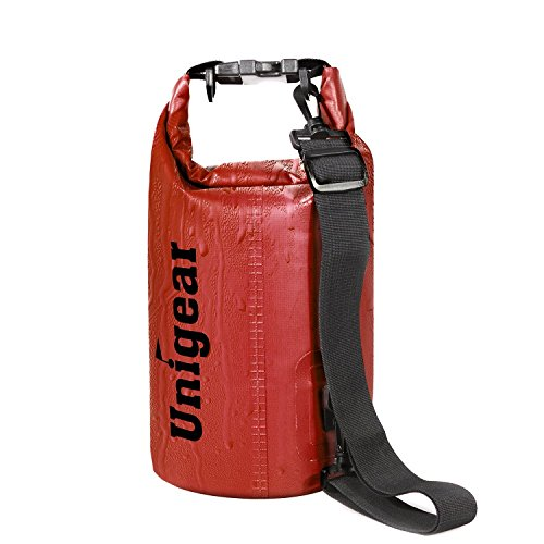 Unigear Dry Bag, Waterproof Floating Gear Bags for Boating, Kayaking, Fishing, Rafting, Swimming, Camping And Snowboarding (Red, 30L)
