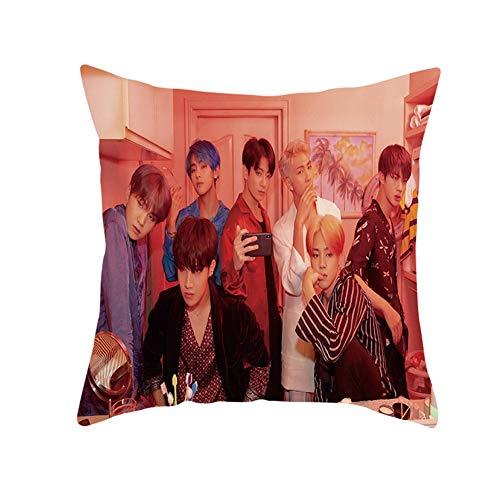 CAR-TOBBY Taie d'oreiller pour décoration d'intérieur Motif Fans de l'armée Love Yourself K-Pop BTS