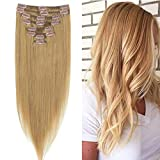 Best Full Hair Remy Hair Extensions - 20 inch, 70g, dark blonde: LFLIN Clip In Review
