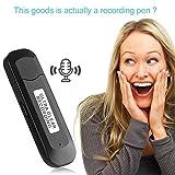Dictaphone Enregistreur Numérique 8Go - SK-828 Mini Enregistreur Vocal Portable Multifonctionnel U-disque MP3 Player dictaphone professionnel
