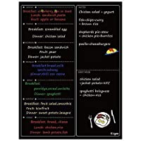 Ezigoo Magnetic Meal Planner Kitchen Planner Whiteboard - Magnetic Weekly Planner - Black Wet Wipe Menu Planner Magnetic Calendar 30x40 cm Fridge Calendar