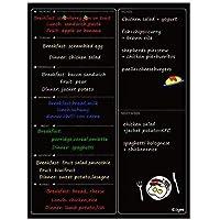 Pizarra Magnética Semanal – Frigorífico Calendario Planificador Borrado En Mojado Pizarra Negra 30x40cm-Ezigoo