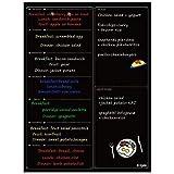 Calendario Magnético para Nevera - Planificador de Menú, Recordatorio, Lista de la Compra - Pizarra Magnética 30x40cm-Ezigoo