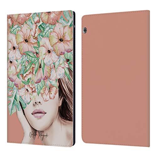 Head Case Designs Offizielle Nature Magick Koralle Insel Frau Mit Blumen Leder Brieftaschen Huelle kompatibel mit Huawei MediaPad T5 (Die Korallen Insel)