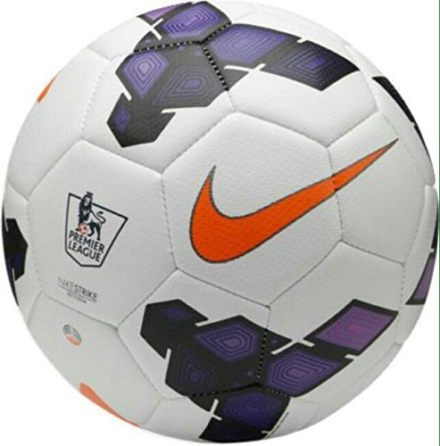 Larjonna Nike Strike PL (White/Purple) replica Football. Size-5  available at amazon for Rs.612