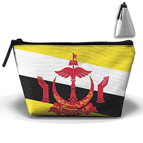 Flag of Brunei Portable Makeup Receive Bag Storage Large Capacity Bags Hand Travel Wash Bag -