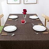 Stil grau beige farbe leinen tischdecken tischdecke wasserdichte tischabdeckung für wohnkultur party esstisch tuch,brown,130 * 200cm