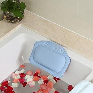 Badewannenkissen Angeer-PVC-Schaum mit Saugnäpfen waschbar und wasserdicht. Kissen für Badewannen.