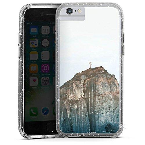 Apple iPhone 7 Bumper Hülle Bumper Case Glitzer Hülle Brasilien Musik Music Bumper Case Glitzer silber