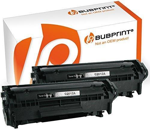 Preisvergleich Produktbild Bubprint 2 Toner kompatibel für HP Q2612A 12A für LaserJet 1010 1012 1015 1018 1020 1022 1022N 3015 3020 3030 3050 3052 3055 M1005 M1319F MFP Schwarz