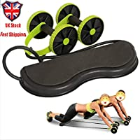 Adoture Multifuncional de Doble AB-Rollenrad-Heim-Fitnessgeräte Power-Roll-AB-Trainer-Core-Ruedas fortalece los músculos Bauchmuskelübungen para Bauch- y Ganzkörpertraining Fitness