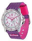 Scout Mdchen Analog Quarz Uhr mit Textil Armband 280378006