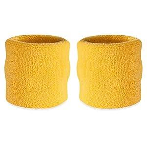 Suddora Handgelenk Schweißband, Baumwoll-Frottee, für Sport (1Paar)