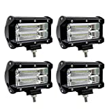 "Sungentle 4pcs Faro Trabajo Led, 5 "" 72W Super Bright y Potentes Focos Led Coches 6000K IP67 Impermeable de Faros Adicionales Blanco Frío Para off-road, Tractor, Camión"