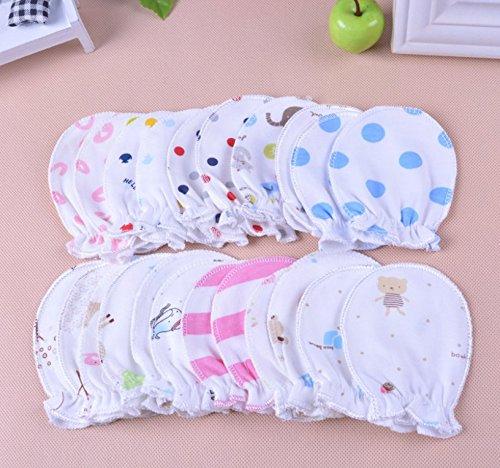 tfxwerws 0-6Monate Neugeborene Baby kratzfest Baumwolle Handschuhe (5Paar)