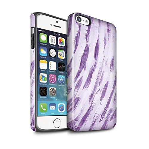 STUFF4 Glanz Harten Stoßfest Hülle / Case für Apple iPhone 6 / Ombre Herz/Liebe Muster / Lila Mode Kollektion Abstrakte Kunst/Farbe