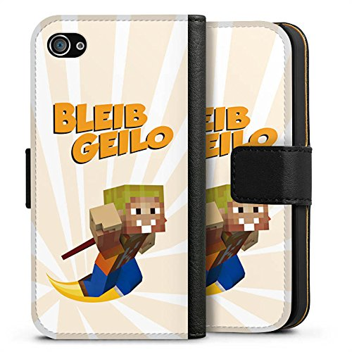 Apple iPhone X Silikon Hülle Case Schutzhülle LPmitKev Fanartikel Merchandise Bleib Geilo Weiß Sideflip Tasche schwarz