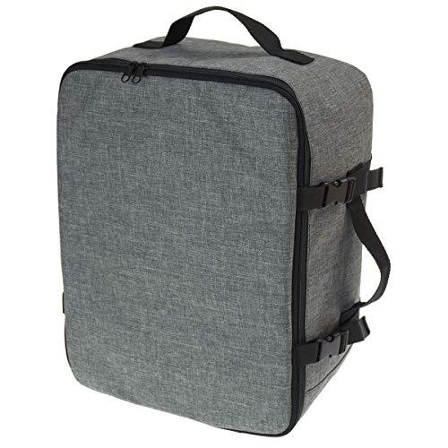 Multifunktions Handgepäck Rucksack gepolstert Flugzeugtasche Handtasche Reisetasche Rucksack gepolstertkoffer für Flugzeug Größe 40x30x20cm Schwarz Len [102] -