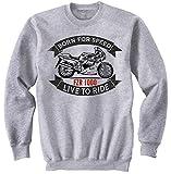 Teesandengines Men's YAMAHA FZR 1000 Grey Sweatshirt Size Small