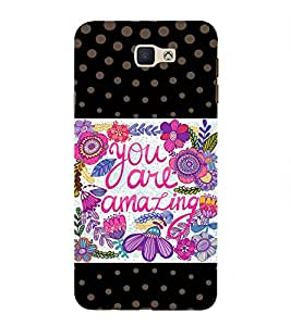 Fabcase dot pattern colourful abstract art you are amazing Designer Back Case Cover for Samsung Galaxy J7 Prime (2016)