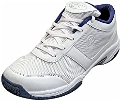 Zigaro Mens All White Synthetic Badminton Shoes - 6 UK
