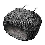 Katzenbett Heizung Radiator Sunrise Schwarz mit Kissen 45 cm breit Katze heizung Heizkörperliege heizungsliege