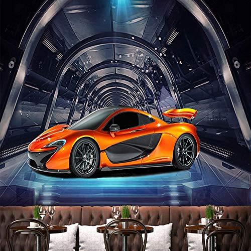 3D tapete Wandbilder Benutzerdefinierte Jede Größe Metall Strukturierte Sportwagen Cafe Kinder Kinder Schlafzimmer Hintergrund Wandmalerei 350x256cm
