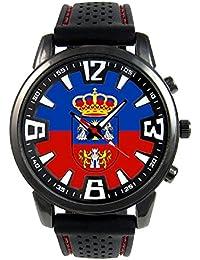 Lugo España Reloj para hombre con correa de silicona