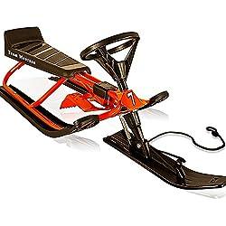 Luge à volant - biplace pour sports d'hiver adultes et enfants max 75kg - ROUGE