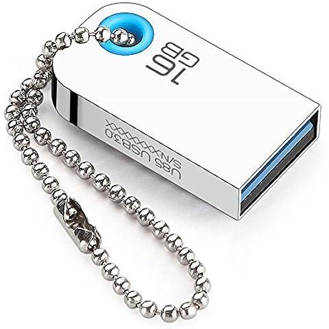 EAGET U85 de Unidad flash de alta velocidad USB 3.0 y acero inoxidable con diseño de llavero (32GB)