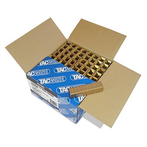Tacwise 0780 Boîte de 10000 Agrafes à couronne large 19 mm Type 17 - Bronze