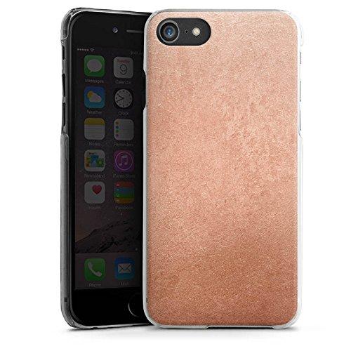 Apple iPhone X Silikon Hülle Case Schutzhülle Metall Rose Gold Look Hard Case transparent