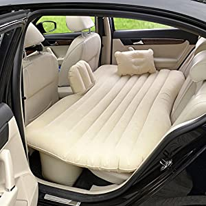Vinteky® Auto SUV Luftmatratze Bewegliche Dickere Luftbett Auto Matratze für Reisen Camping Outdoor Aktivitäten (Grau)