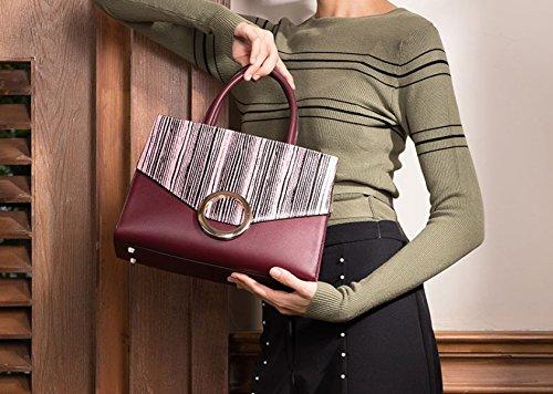 ZPFME Womens Tote Borsetta Moda Soft Cowhide Ladies Bag Party Retro Banchetto Shopper Borsa In Pelle Red
