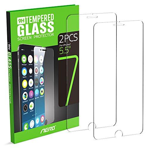 """iPhone 7 Plus Protector de Pantalla, Aerb 2-Pack Vidrio Templado Protector de Pantalla para iPhone 7 5,5 """""""