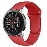Latband Cinturino Compatible Samsung Galaxy Watch 46mm/ Gear S3 Frontier Classic Watch, 22mm Braccialetto di Ricambio in Silicone Cinturino per Samsung Galaxy Watch SM-R811NZSAXAR Smart Fitness Watch