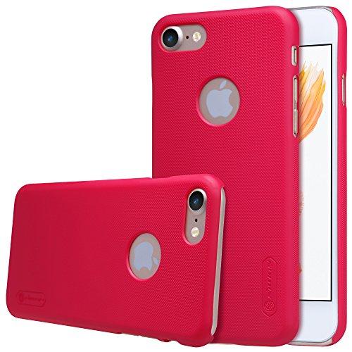 AVIDET Coque Etui Case Cases Pour IPhone 8, Slim Fit Hardshell Back Coque Etui Case Cover (Noir) Rouge