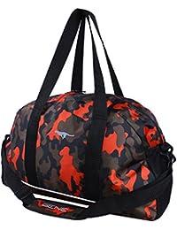 Gene Black With Orange Camouflage Design Unisex Casual Gym, Duffel Bag (VA-MN-0316)
