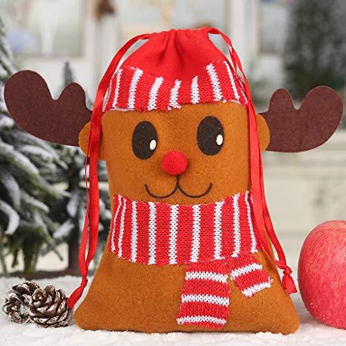 2 Stück Drawstring Pyjama Set (Mitlfuny Christmas,Weihnachtsdekoration,Christmas Decorations,Christmas Vacation, Beutel-nichtgewebter Drawstring-Süßigkeit-Festlichkeits-Strumpf-Partei-Halter-Beutel)