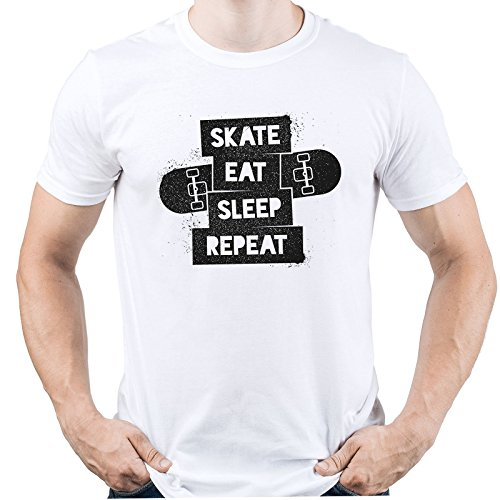f3ca26739 EUGINE DREAM Skate Eat Sleep Repeat Shirt Skater Tshirt Skateboarding Tee  Gift for Skater Homme T