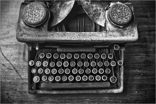 aumbild 30 x 20 cm: Alte Schreibmaschine von Walter Quirtmair ()