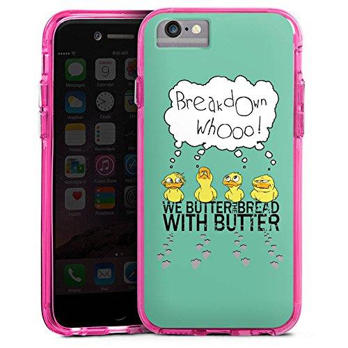 Apple iPhone 7 Bumper Hülle Bumper Case Glitzer Hülle We Butter The Bread with Butter Fanartikel Merchandise Fan Article Merchandise Bumper Case transparent pink
