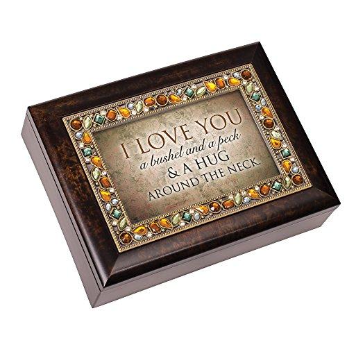 Cottage Garden Spieluhr, mit englischer Aufschrift I Love You A Bushel and A Peck Bernstein-Motiv (Geschenke Oma Geburtsstein)
