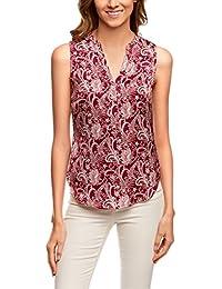 Amazon.fr   imprimé - Chemisiers et blouses   T-shirts, tops et ... 761f7e23944