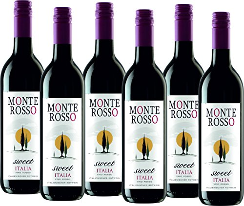 Monte Rosso Sweet Italia Rotwein lieblich (6 x 0.75 l)
