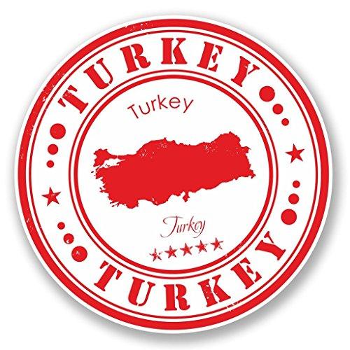 Preisvergleich Produktbild 2x Türkei Vinyl Aufkleber Aufkleber Laptop Reise Gepäck Auto Ipad Schild Fun # 4559 - 15cm/150mm Wide