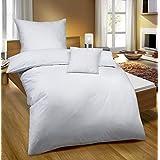 Biberna 0065600/001/001 Bettwäsche, Baumwollsatin, 135 x 200 cm, weiß